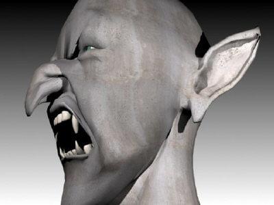 satan - head animation 3d model