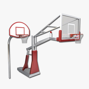 3d basketball hoop model