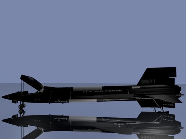 free x 15 x-15 3d model