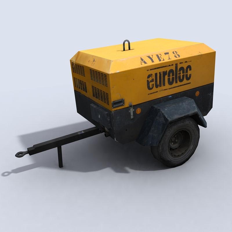 compressor 1 vehicle 3d model
