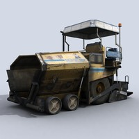 asphalt paver 1 3d model