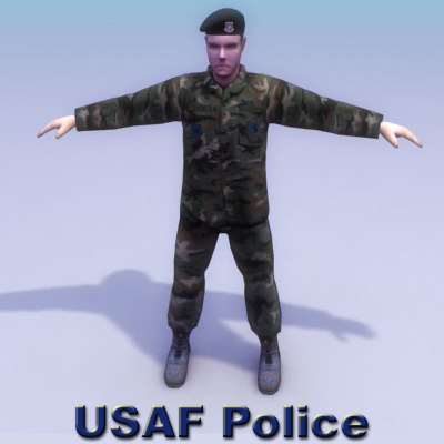 3d model air force police games