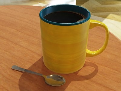 3d photorealistic coffee mug