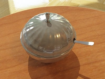 photorealistic sugar bowl 3ds