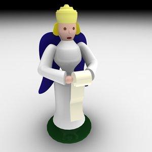 christmas angel music 3d model