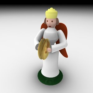christmas angel music 3d model