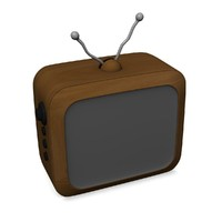 3d tv televison cartoon