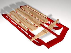 sled lightwave simple 3d model