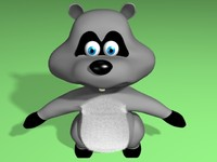 lightwave raccoon 3d model