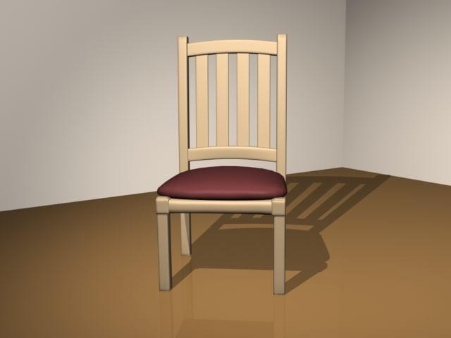 simple chair lightwave 3d model
