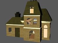 abandoned house 3d model