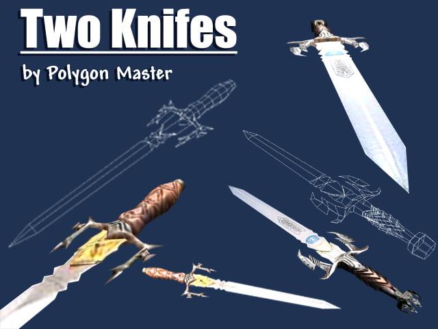 knifes 3d 3ds