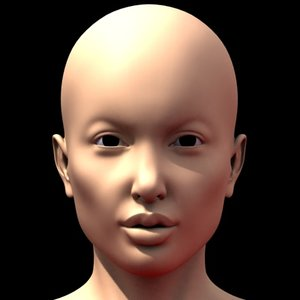 sexy female head 3d model