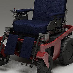 wheelchair electric wheel 3d model