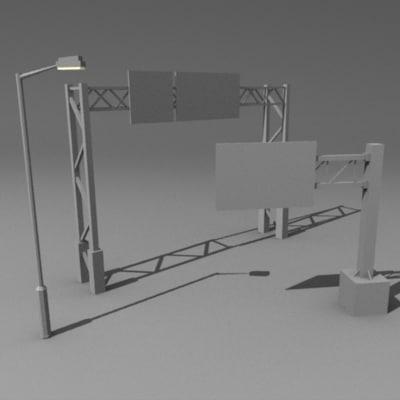 3d model of street elements