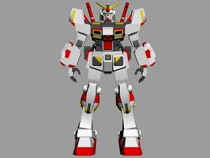 3d gundam g05 model