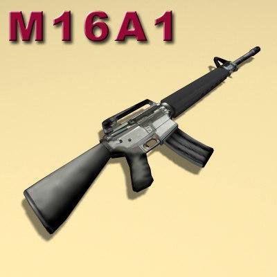 m16a1 rifle 3d model