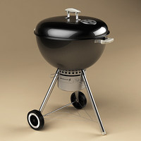 weber one-touch gold charcoal 3d model