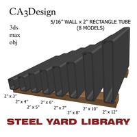 3d 5 wall tube steel model