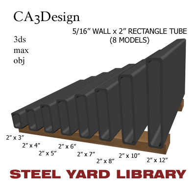3d 5 wall tube steel model