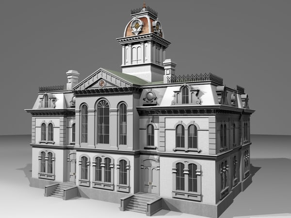 3d model victorian courthouse