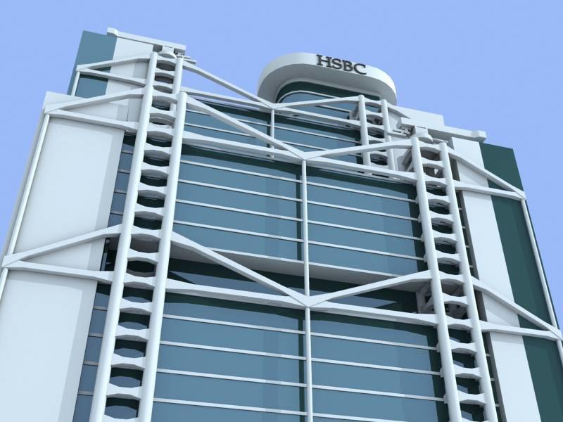 3ds hsbc bank building
