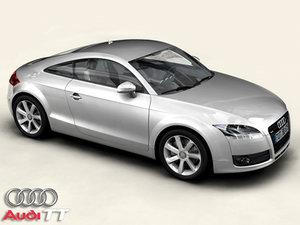 3d audi tt 3 car model