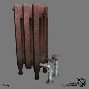 hot-water radiator 3d model