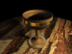 wood goblet 3d