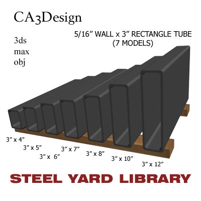 3d model 5 wall tube steel