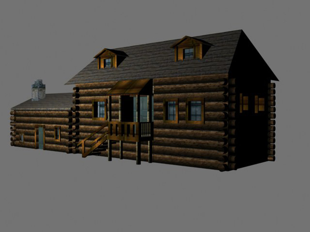 3d russian loghouse model