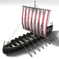 3d 3ds boat viking