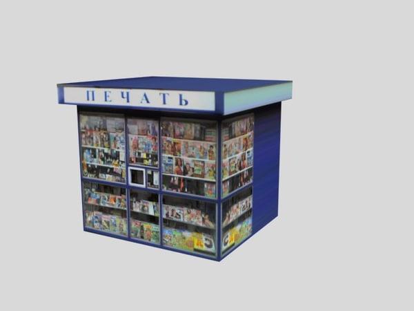 3d tabloids magazines model