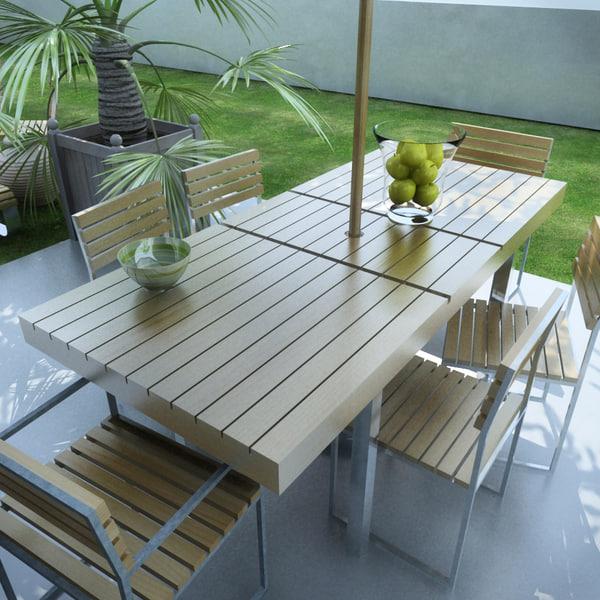 garden furniture kit 3d model