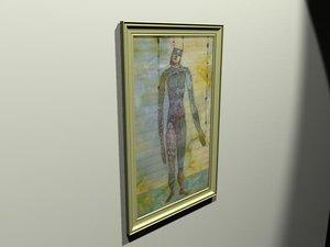 origional framed artwork 3d 3ds