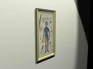 3d origional framed artwork model