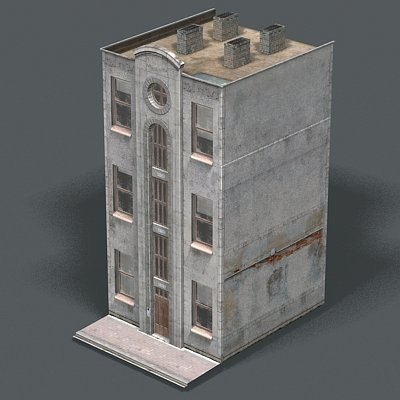 city building resolution 3d model