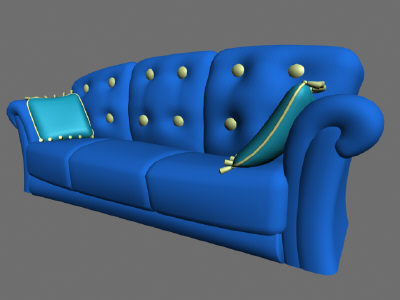 3d Cartoon Couch Model