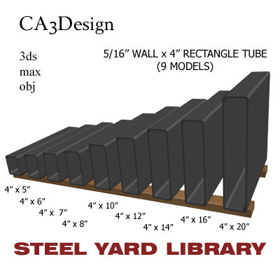 3ds max 5 wall tube steel