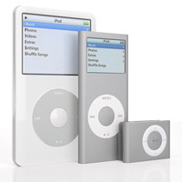 apple ipod 5 2g 3d model