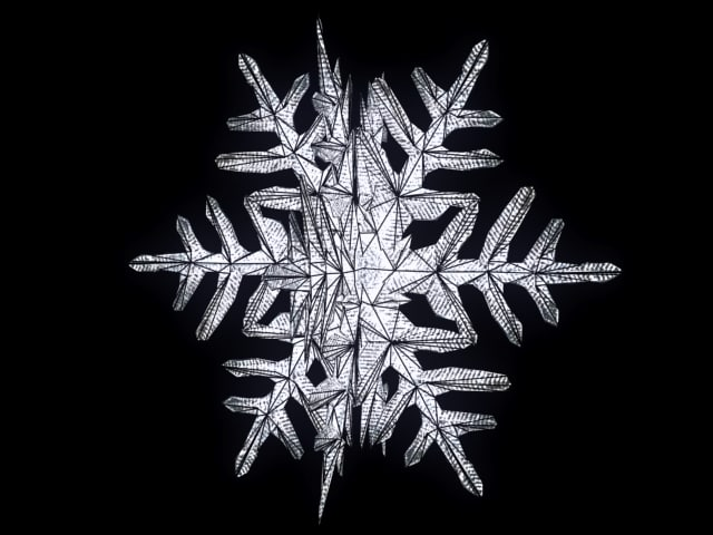 snowflake lamp light 3d model