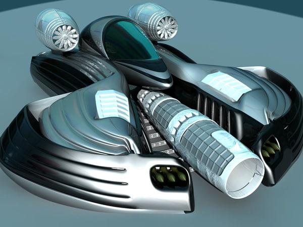 futuristic ship 3ds