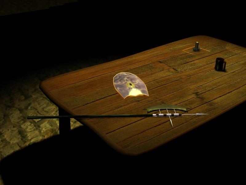 axe scene 3d model