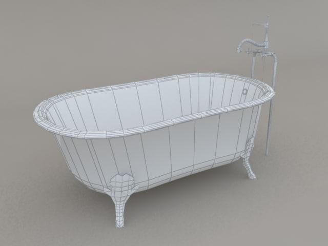 free clawfoot tub 3d model