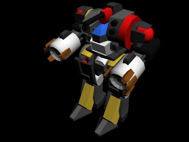 3d mech mechwarrior robot model
