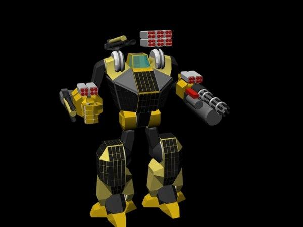 free mech 3d model