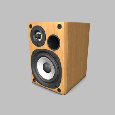 loudspeaker 3d max