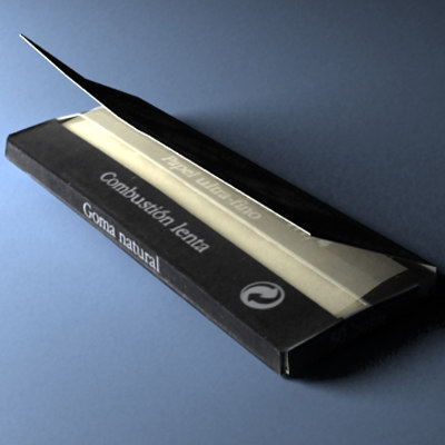 smoking paper 3d model