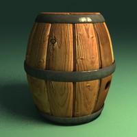 3d barrel cartoon model