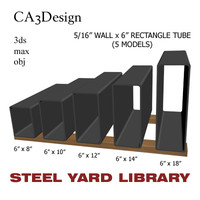 5 wall tube steel obj